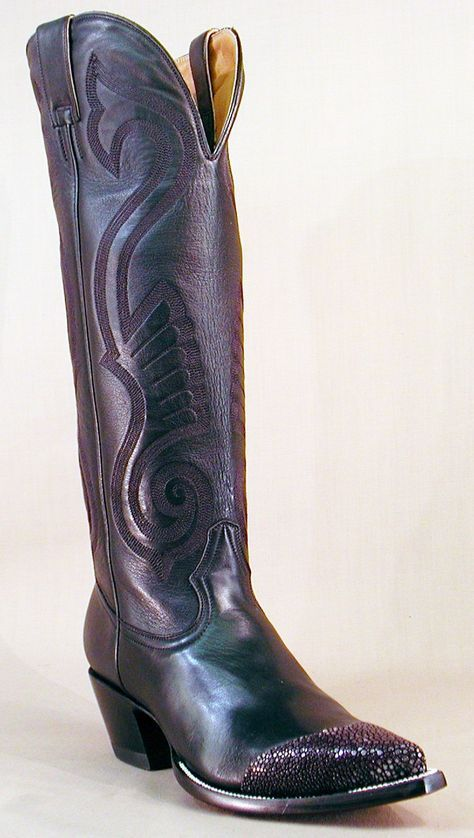 872dd4623de Stingwing Boot - 16 inches of Italian calfskin with stingray ...