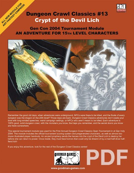 Dungeon Crawl Classics #13: Crypt of the Devil Lich – PDF