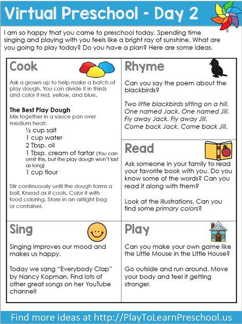 Free Virtual Preschool Circle Time - Week 1 Video Lessons