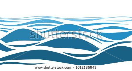 Stock Vector Blue Water Sea Waves Abstract Vector