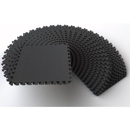 Everyday Essentials 1 2 Thick Flooring Puzzle Exercise Mat With High Quality Eva Foam Interlockin Interlocking Tile Mat Exercises Everyday Essentials Products