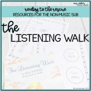 Music Sub Plan For The Listening Walk With Images Music Sub