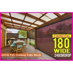 180cm X 240cm Heavy Duty Pvc Tinted Patio Cafe Blinds Outdoor Uv Protect Awning In 2020 Cafe Blinds Outdoor Blinds Patios Blinds
