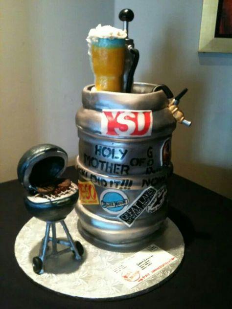 Beer keg cake