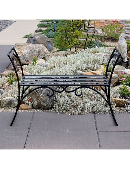 Achla Wrought Steel Arbor Backless Bench Gardener S Supply Arbor Bench Garden Bench Garden Supplies