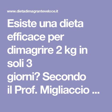 dieta dimagrante 2 kg in 3 giorni