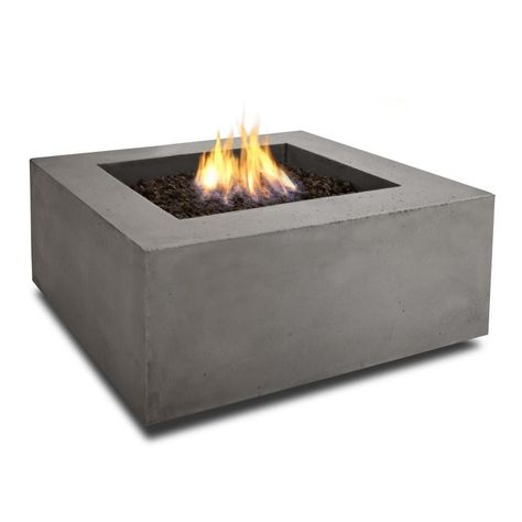 Real Flame 36 In W 50000 Btu Glacier Gray Portable Composite Propane Gas Fire Table At Lowes Com Fire Table Gas Fire Table Gas Firepit