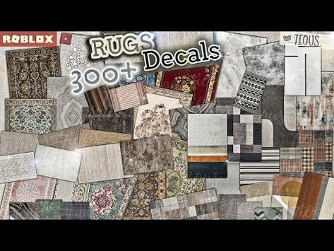 (3170) Decals Codes Rugs   Decals Ids   Bloxburg ROBLOX - YouTube
