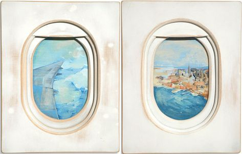 I love this series of oil paintings called Windows by Jim Darling.