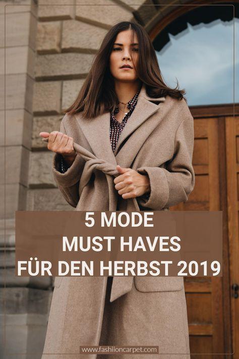 5 Mode Must Haves für den Herbst 2019
