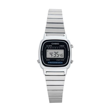 Casio Women's 23mm LA670WA-2D Digital Watch ($23) ❤ liked on Polyvore featuring jewelry, watches, blue jewelry, digital watch, casio wrist watch, silver jewellery and casio watches