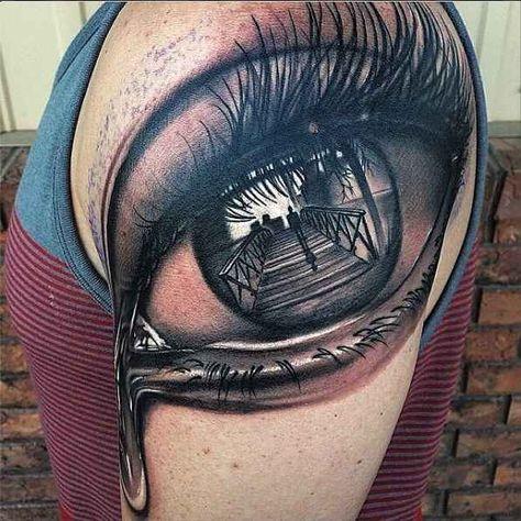 Crying Eye Tattoo