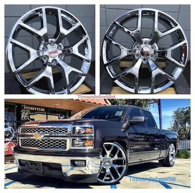 Details About 28 Inch Chevy Silverado Chrome Wheels Fit Suburban