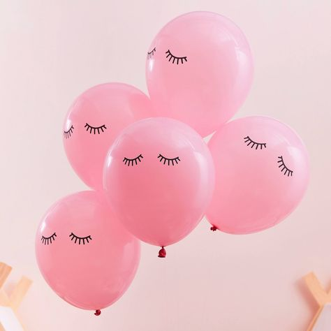 Pink Sleepy Eyes Pamper Party Balloons by Ginger Ray, the perfect gift for Explore more unique gifts in our curated marketplace. Spa Day Party, Pamper Party, Sleepover Party, Girl Spa Party, Bedroom Wall Collage, Photo Wall Collage, Picture Wall, Printed Balloons, Pink Balloons