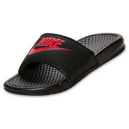 Nike® Benassi Swoosh Mens Slide Sandals | August Shopping with JCPenney! |  Pinterest | Mens slide sandals, Slide sandals and Athletic shoes