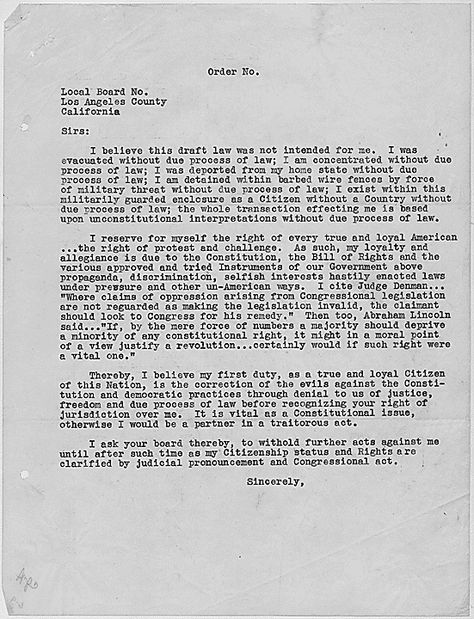Videos about the Japanese-American internment home schoolin - personal sponsorship letter