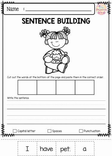 Writing Worksheets For Preschoolers In 2020 Sentence Building Kindergarten Writing Sentence Building Worksheets