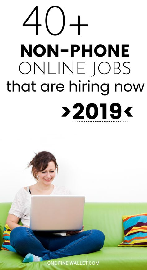 40+ Non-Phone Work from Home Jobs {Hiring Now}