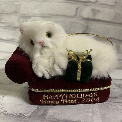 Fancy Feast Christmas Ornament 2020 Fancy Feast 2004 Ornament Cat On Couch Friskies Christmas Holiday