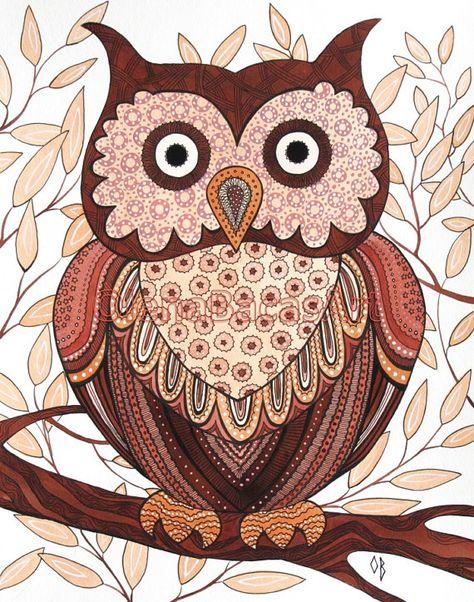 brown owl by Olena Baca