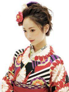 成人式 髪型 前髪なし かっこいい 袴 卒業式 ヘアスタイル ショート