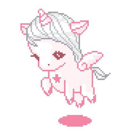 First Gentle Snow Pixel Art Vaporwave Art Animated Unicorn