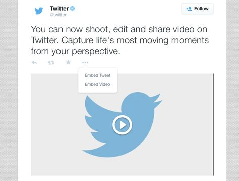 You Can Now Embed Twitter Video On Your Website – TechCrunch