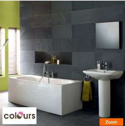 Bathroom Design B&Q grey walls tiles and niche - b&q | bathroom | pinterest | grey