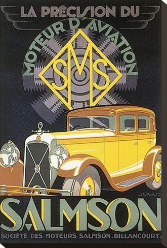 La Precision Du Moteur D Aviation Salmson Stretched Canvas Print G Kow Art Com In 2021 Art Deco Posters Vintage Poster Art Art Deco Illustration