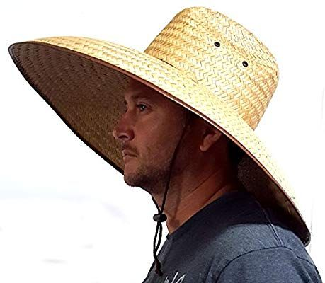 Amazon Com Voyager Tools Double Weaved Hard Shell Shade Hat Large Fit Wide Brim Straw Hat Sports Outdoors Shade Hats Straw Hat Hats