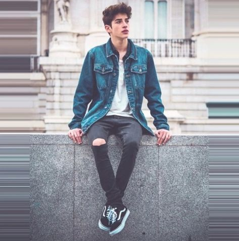 39 Amazing Casual Outfit For Boys With Denim Jacket - Jeansjacke Outfit