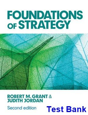 Foundations of Strategy 2nd Edition Grant Test Bank | Test