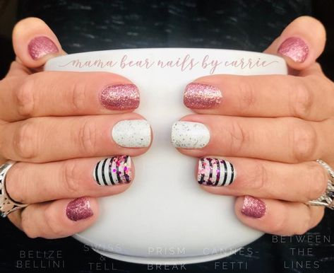 This is Color Street ! Super easy DIY nails in minutes you can customize with a little creativity ! This is Belize Bellini, Swiss and Tell, Prism Break, Canne Nail Color Combos, Nail Colors, Bellini, Christmas Gel Nails, Nagel Blog, Manicure At Home, Diy Manicure, Diy Nails At Home, Nail Polish Strips