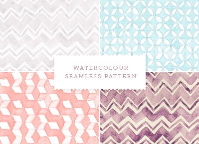 love these free watercolor patterns