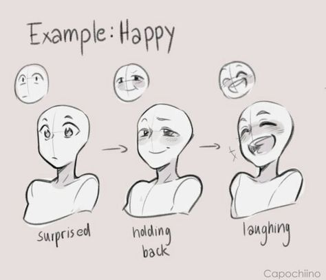 Process Of Being Surprised Happy Drawing Expressions Drawings