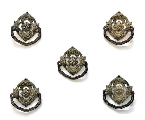 5 Antique Victorian Brass Drawer Pulls Door Knocker Style Victorianpulls Victoriandrawerpulls Brassdrawerpulls Ant Brass Drawer Pulls Antiques Drawer Pulls