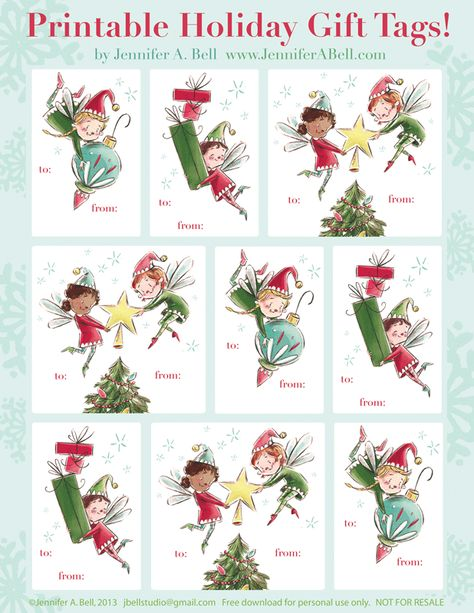 Freaking adorable Xmas tags! 6 different sets.