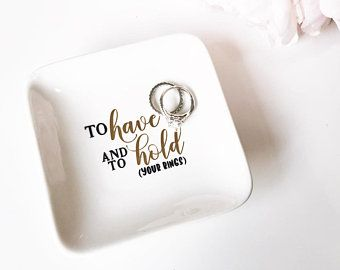 Engagement Gift Gift For Bride Jewelry Holder Wedding Ring Dish Jewelry Dish