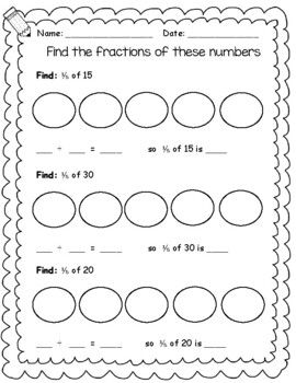 Maths 2nd Grade Year 3 Fractions And Fractions Of Numbers Fractions 2nd Grade Numbers