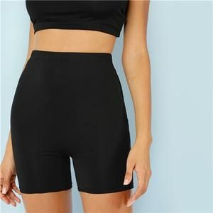 Cut and Sew Short Leggings Women Plain Fitness Cycling High Waist Leggings Athleisure Crop Fitness