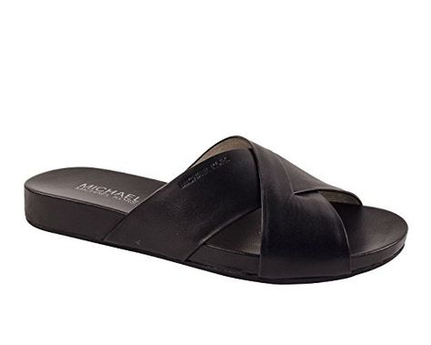 0379c0ebf1ee MICHAEL Michael Kors Womens Somerly Leather Slide SandalsB5M    Read more  at the image link. (This is an affiliate link)  WomensSlidesSandals