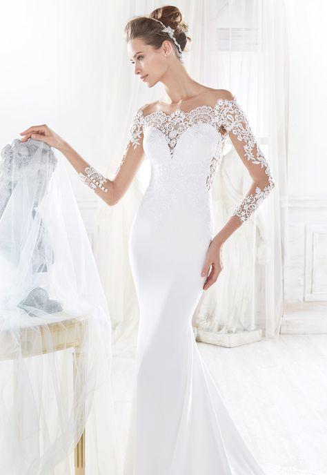 vestido de novia nicole modelo 18047 - eva novias | nicole fashion