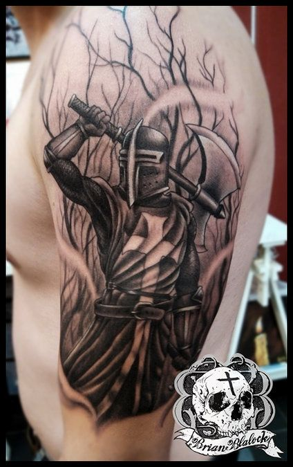 tattoo 39 s on pinterest knight tattoo knights and skull tattoos. Black Bedroom Furniture Sets. Home Design Ideas