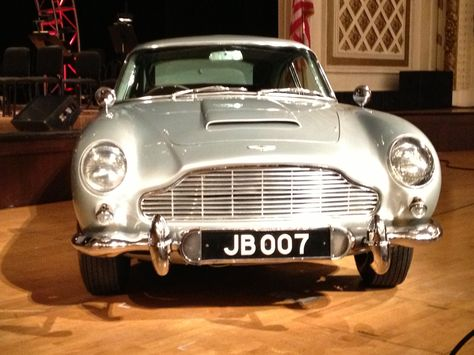 James Bond S Beautiful Aston Martin Db5 Was Showcased At Cincinnati Music Hall In Cincinnati Oh During The Cincinnati Pops Bond Cars Tv Cars Aston Martin Db5