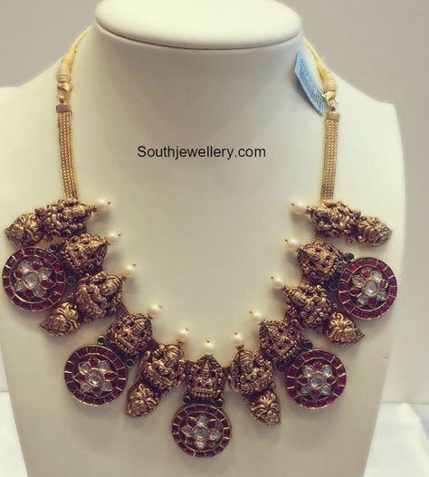 Antique Gold Lakshmi Necklace photo