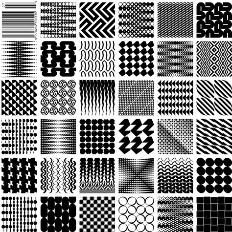 July A selection of patterns created using geometric fonts produced by Kapitza