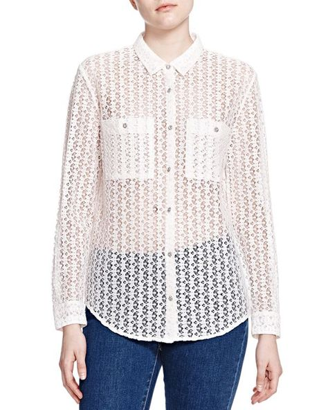 81f2c1bc8d The Kooples Sheer Lace Shirt   Products