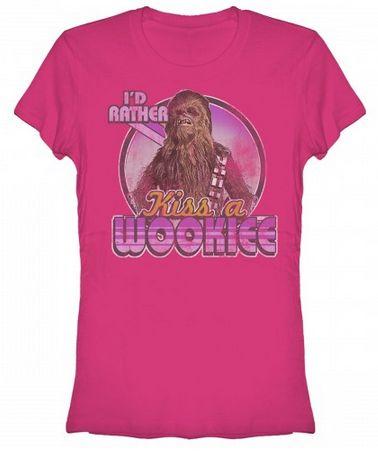 Star Wars:  Kiss A Wookie Juniors T-Shirt