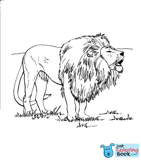 Free Printable Lion Coloring Pages For Kids Pertaining To Roaring Lion Coloring Pages Download More Free Printable Hd Images For Lion Coloring Pages By Visiti