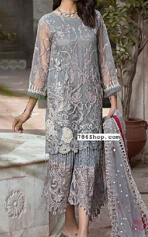 f0b9626b9e2a Grey Net Suit | Buy Charizma Pakistani Dresses and Clothing online in USA,  UK